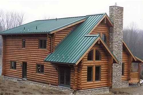 Finding your ideal log cabin roofing for Log cabin roof construction