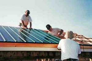 DIY metal roof